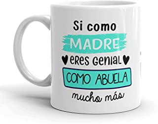 Kembilove Taza regalo día de la madre – Tazas Desayuno para Abuela con Mensaje de amor – Regalos originales para madres y ...