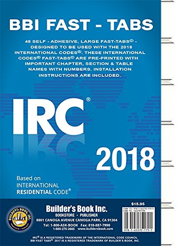 2018 International Residential Code (IRC) Fast Tabs