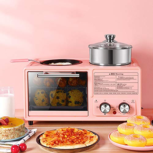 2 Slice Toasters Best Rated Prime Small Toaster Oven with Electric Hot Pot Omelette Pan Breakfast Machine Compact Multi Breakfast Station