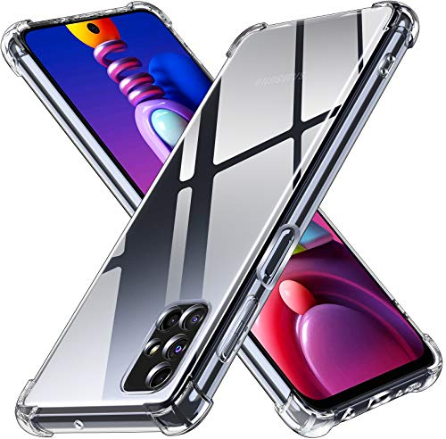 ivoler Klar Silikon Hülle für Samsung Galaxy M51 mit Stoßfest Schutzecken, Dünne Weiche Transparent Schutzhülle Flexible TPU Durchsichtige Handyhülle Kratzfest Hülle Cover