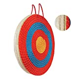Seektop Archery Target Traditional 3 LayersHand-Made Arrows Target for Outdoor Shooting Practice Suitable for Youth Beginner Adult (20X20X2.36 inch)