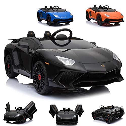 Lamborghini CARS12V Coche electrico 12 V para niños AVENTATOR, monoplaza, Mando Parental,...