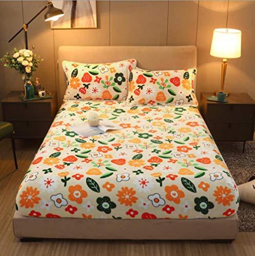 GSYHZL Spannbettlaken für Wasser- Boxspringbett ,Flanell Super Kingsize-Bettlaken, Dicke warme und rutschfeste Bettdecke, geeignet für Hotelapartments - O_180cmx200cm + 30cm
