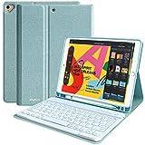 iPad 8th Generation Keyboard Case 10.2' 2020 iPad 8th Gen,10.2' 2019 iPad 7th Gen, Auto Sleep/Wake Detachable Wireless Bluetooth Keyboard Built-in Pencil Holder