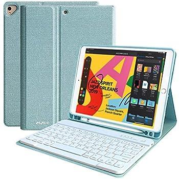 iPad Keyboard 8th Generation Keyboard Case for iPad 10.2  8th/7th Gen- Pro 10.5  2019/2017 Air 3rd Gen,Detachable Wireless Bluetooth Keyboard with Pencil Holder Stand Folio Keyboard case