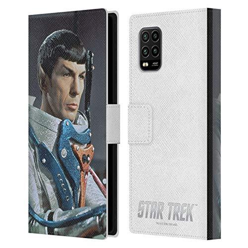 Head Case Designs Licenciado Oficialmente Star Trek Traje Espacial Spock Carcasa de Cuero Tipo Libro Compatible con Xiaomi Mi 10 Lite 5G