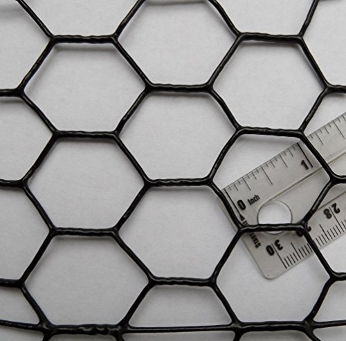 Pinnon Hatch Farms Chicken Wire Fence PVC Coated UV 1' Hex 3' x 150' Poultry Aviary Bird Fencing
