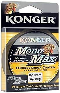 Konger MONOMAX FLUOROCARBON - Sedal de Pesca (0,12-0,50 mm/150 m, monofilamento)