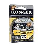 Konger MONOMAX FLUOROCARBON - Sedal de Pesca (0,12-0,50 mm/150 m, monofilamento), Hellblau/Transparent, 0,12mm / 2,55kg