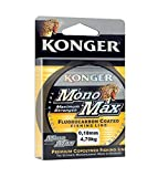 Konger Sedal de pesca Monomax con revestimiento de fluorocarbono, 0,12 mm - 0,50 mm/150 m, bobina monofilamento (0,28 mm/10,20 kg)