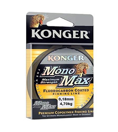 Konger Sedal de pesca Monomax con revestimiento de fluorocarbono, 0,12 mm - 0,50 mm 150 m, bobina monofilamento (0,35 mm 14,10 kg)