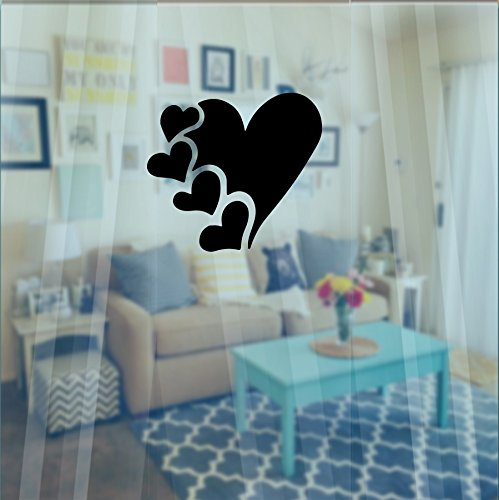 Inspired Walls Giorno di San Valentino Cuore Amore Window Wall Sticker Decal Romantic for Her (110X 100mm) by