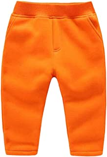 JZLPIN Unisex Toddler Pants Kids Cotton Elastic Waist Winter Baby Trousers