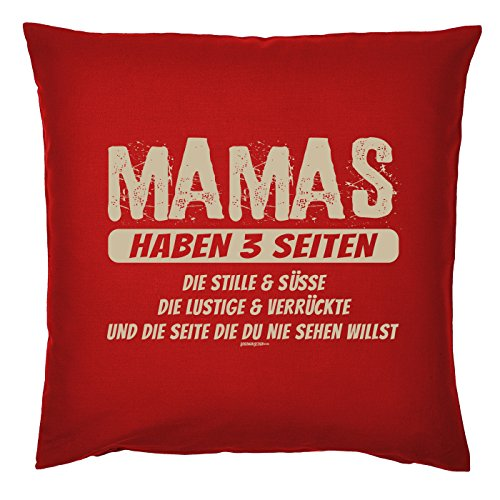 Art & Détail T-shirt Coussin : Maman Mom Fête des Mères – Mamas 3 parties ont le silence et Douceur – Comme Présent