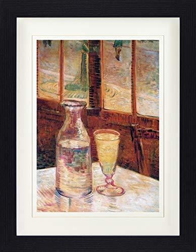 1art1 Vincent Van Gogh - Stillleben Mit Absinth, 1887 Gerahmtes Bild Mit Edlem Passepartout | Wand-Bilder | Kunstdruck Poster Im Bilderrahmen 40 x 30 cm