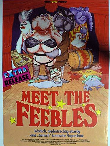 Meet The Feebles - Peter Jackson - Filmposter A3 29x42cm gefaltet