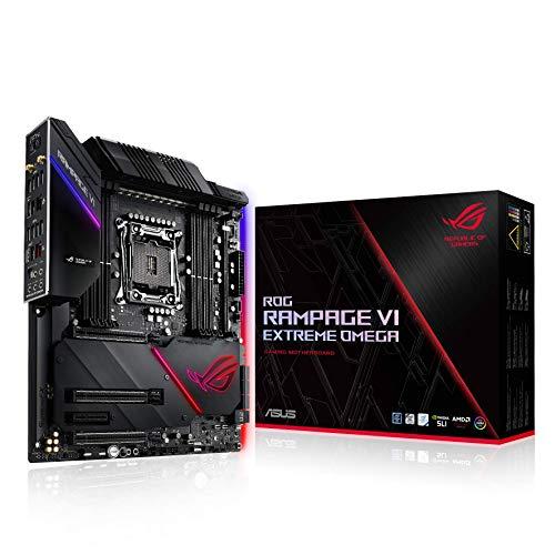 ASUS ROG Rampage VI Extreme Omega Gaming Mainboard Sockel LGA 2066 (Intel X299, EATX, DDR4, USB 3.1 Gen2, Quad M.2, Aura Sync)