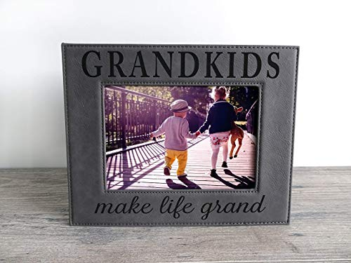 Engraved Leatherette Picture Frame