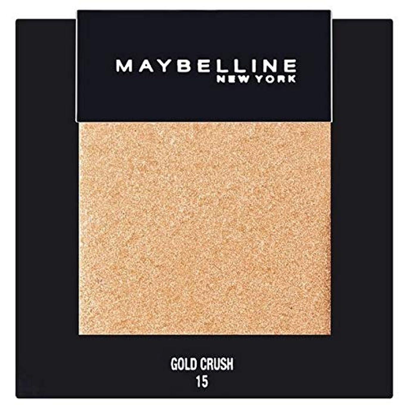 デモンストレーション契約するわざわざ[Maybelline ] メイベリンカラーショーシングルアイシャドウ15金クラッシュ - Maybelline Color Show Single Eyeshadow 15 Gold Crush [並行輸入品]