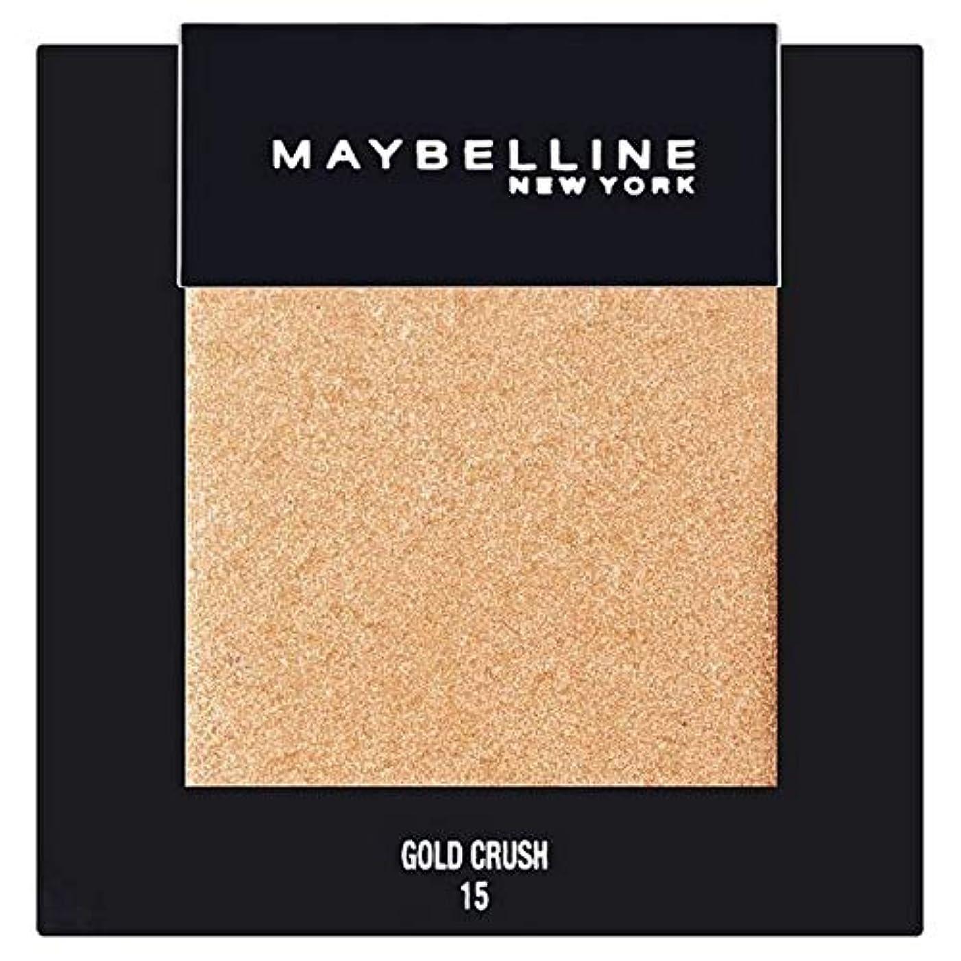 以来ジレンマ食べる[Maybelline ] メイベリンカラーショーシングルアイシャドウ15金クラッシュ - Maybelline Color Show Single Eyeshadow 15 Gold Crush [並行輸入品]