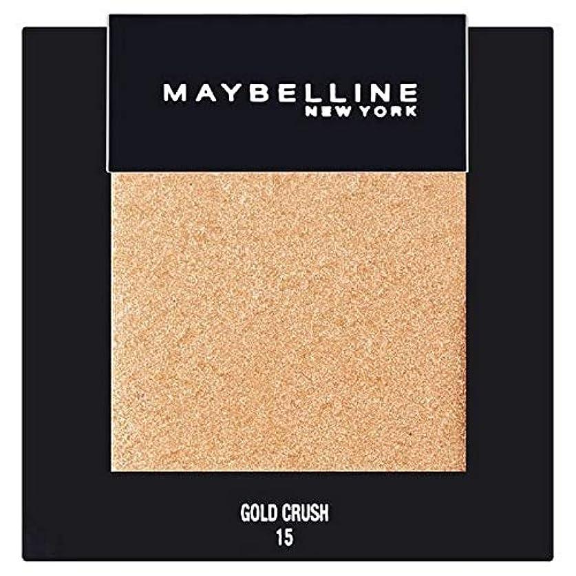 クリーム慣れる自然公園[Maybelline ] メイベリンカラーショーシングルアイシャドウ15金クラッシュ - Maybelline Color Show Single Eyeshadow 15 Gold Crush [並行輸入品]