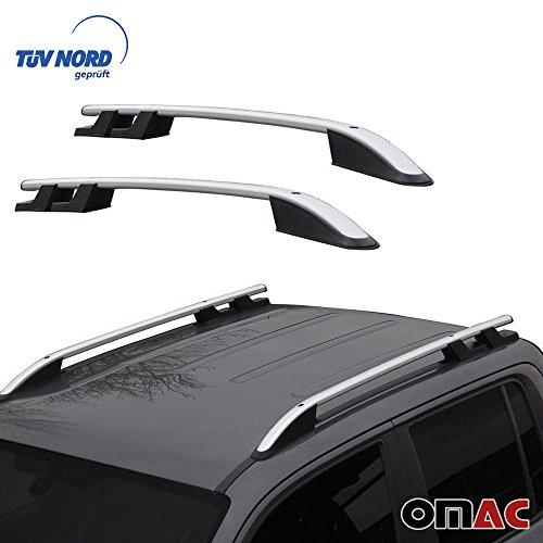 OMAC Aluminium Grau Dachreling Dachgepäckträger für Amarok 2010-2020 Relingträger Gepäckträger mit TÜV ABE Fahrzeugspezifisch