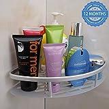 HOKIPO® Magic Sticker Series Self-Adhesive Bathroom Corner Shower Caddy