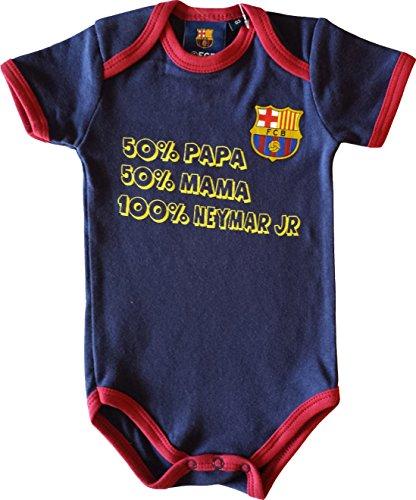 Body bebé niño del Barça –Neymar Junior–Colección oficial FC Barcelona, azul, 12 meses