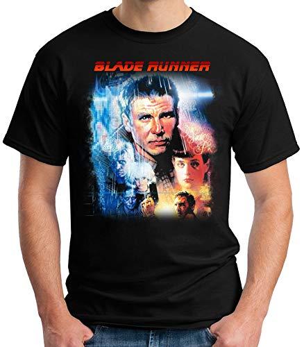 Desconocido 35mm - Camiseta Hombre Blade Runner - Ciencia Ficción - 1982 - Pelicula de Culto - Negro - Talla m