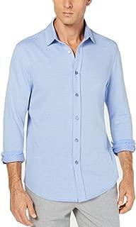 Tasso Elba Solid Navy Mens Large Button Down Shirt
