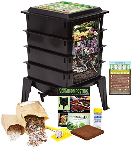 Review Of Worm Factory 360 Worm Composting Bin + Bonus What Can Red Wigglers Eat? Infographic Refrig...