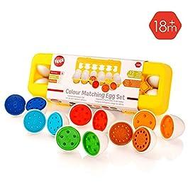 Tippi Color Matching Egg Set – Toddler Toys – Colore didattico e riconoscimento del Nume