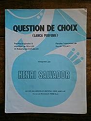 QUESTION DE CHOIX partition HENRI SALVADOR