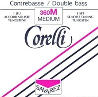 CUERDA CONTRABAJO Niquel Entorchado Re Corelli 382//M 2/ª Medium Bass 4//4 D Salvarez