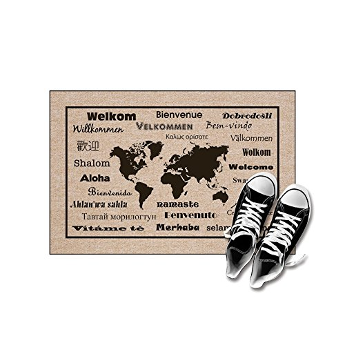 "High Cotton Welcome Doormats - International Language For ""Welcome"""
