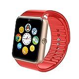 Lemumu Die DGZ Hot Sale Smart Watch GT08 1.54 'Support Memory Card Slot Schrittzähler Smartwatch für jede für Android Phones, 220V, rot