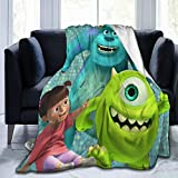 Mons-ters,Inc Flannel Throw Blanket Ultra-Soft Breathable,50'' x40