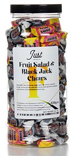 Fruit Salad and Black Jack Chews Gift Jar