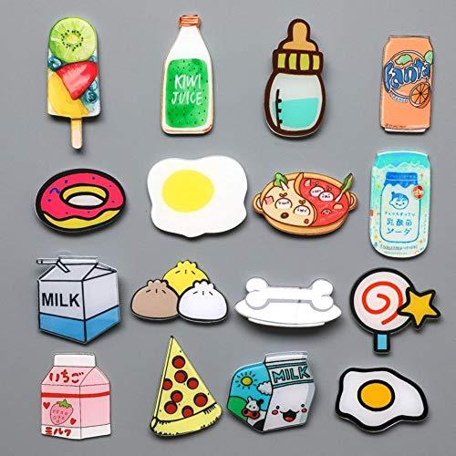 HPPL 1 schattige cartoon levensmiddelen ei acryl materiaal koelkastmagneet whiteboard pasta koelkastmagneet cadeau voor kinderen wooncultuur
