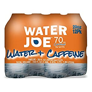 Water Joe Caffeinated Water (12 Pack), 20 Oz Bottles with 70mg of Caffeine   Sugar Free Substitute to Coffee, Soda, and Energy Drinks