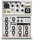 Audibax | Mesa de Mezclas MG04 Go | Mezclador de 4 Canales | Con Interfaz de Audio USB | Apto para Diferentes Instrumentos | Para Múltiples Aplicaciones | Para Pequeños Home Studios