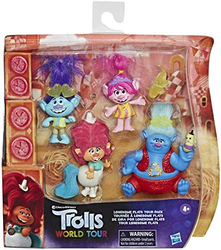 collectors DreamWorks Trolls Lonesome Flats Tour Pack- Includes Poppy, Branch, Delta Dawn, Biggie and Mr Dinkles, Plus Three Pairs of Sunglasses!