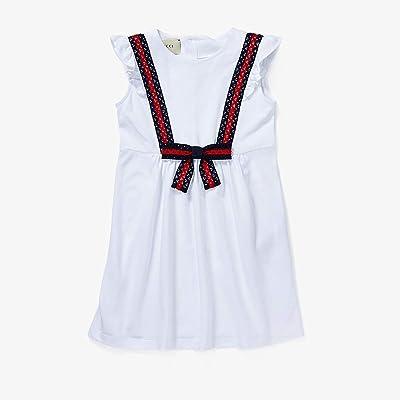 Gucci Kids Dress 503462X9N98 (Little Kids/Big Kids) (Optic White/Blue/Red) Girl