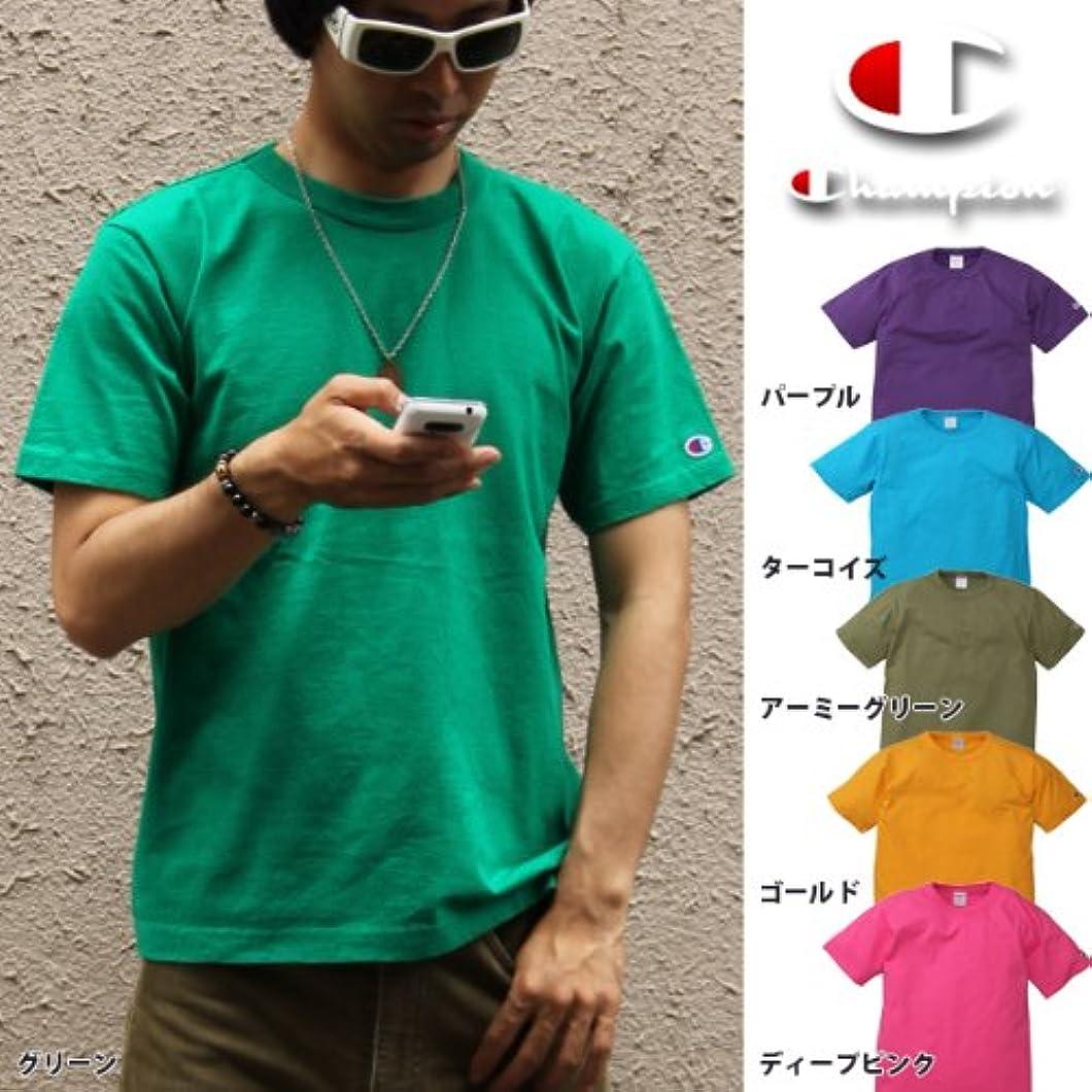 同化する盲信雇ったChampion Made in U.S.A. Tシャツ 無地(C5-P301)グリーンM