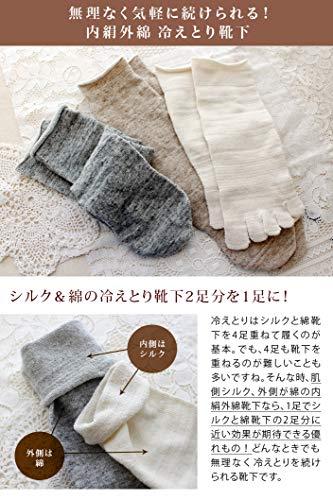 丸中HIORIE(ヒオリエ)『冷えとり靴下内絹外綿2足セット(SSCs1)』