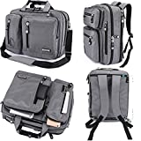 FreeBiz Laptop Bag Convertible Backpack Business Briefcase Messenger Bag Water Resistant Travel Rucksack for 17.3 Inch Laptop for Men Women Students(Gray)
