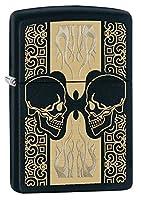 ZIPPO(ジッポー) Skull (スカル) ライター 日本未発売 29404 Black Matte Heads [並行輸入品]