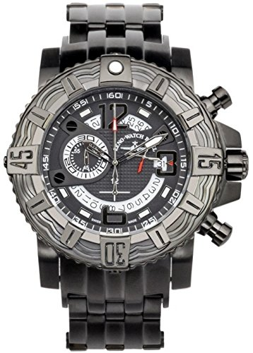 Zeno-Watch Herrenuhr - Neptun 2 Chronograph Black - 4538-5030Q-bk-i1M
