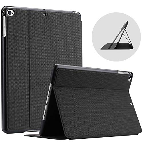ProCase for iPad 9.7 Inch 2018 2017 (6th and 5th Generation) / iPad Air 2 / iPad Air Case, Shockproof Lightweight Slim Protective Folio Cover -Black