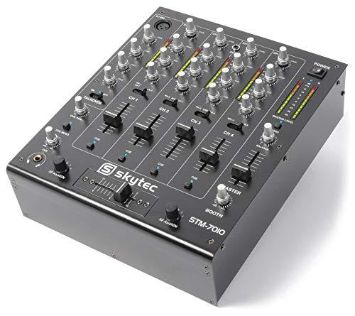 Skytec STM-7010 Mezclador 4 canales DJ USB